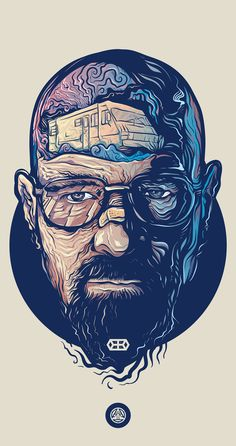 Love this illustration of Walter White from Breaking Bad by Adipurba, check out more of his work! Breaking Bad Arte, Braking Bad, Walter White, Dope Art, Trippy, Vector Art, Concept Art, Art Drawings, Drawing Faces