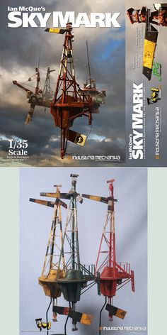 Ian McQue's Sky Mark Buoy • From the imagination of Ian McQue, the Sky Mark buoy is the perfect accessory to display alongside the Remora and other upcoming Ian McQue airships.  https://industriamechanika.com/shop/ian-mcque/34-ian-mcque-s-sky-mark-buoy.html