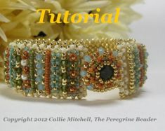 This listing is for a fully illustrated, 20 page tutorial to make the ultra-luxe and regal Elizabeth I Cuff bracelet.  Pattern includes a materials list to make the bracelet in the featured colorway, step-by-instructions and illustrations. Ability Level: Intermediate  Please Note: This is a personal-use tutorial. You agree not to copy, distribute, teach or sell any items made from the tutorial without permission.