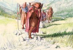 Monika Krucker - Celts on the way over the Alps about 800 BCE