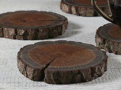4 podkładki drewniane Loxia - Lasmania - Podkładki i serwetki