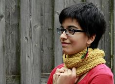Honey Comb Cowl - Knitting creation by Francoise Danoy   Knit.Community