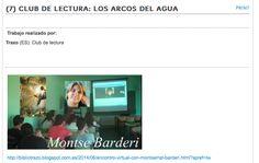 Club de Lectura en Trazo: Los arcos del agua. Montse Barderi.