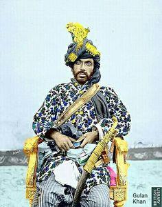 Portrait of Khan of Kalat  Mir Mahmood Khan, Balochistan Pakistan