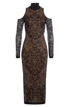 bc9868e15221e2 s.Oliver BLACK LABEL jurk met glitters antraciet in 2019