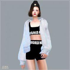 SIMS4 Marigold: ACC_Loosefit Hood Jacket • Sims 4 Downloads