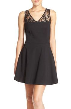 BB Dakota 'Tulane' Lace Back Fit & Flare Dress available at #Nordstrom