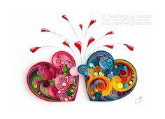 quilling, quilling art, paper, paper art, design. wall art, quilling wall art, love,  love puzzle, любовь, любовь пазлы, квиллинг, бумага, дизайн