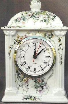 """Celee Evans Porcelain Study: Brylian Bouquet on 8"""" Empire Clock"""