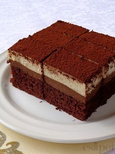 Hungarian Desserts, Hungarian Recipes, Cold Desserts, Fancy Desserts, Homemade Sweets, Homemade Cakes, Delicious Deserts, Sweet Cookies, Just Cakes