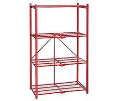 Pop-It 4-Tier Heavy Duty Collapsible Storage Shelf