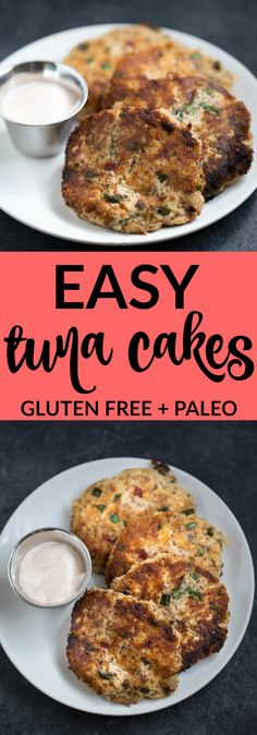 FLAVORFUL Easy Tuna Cakes are paleo gluten free. Great for lunch or to serve as an appetizer!