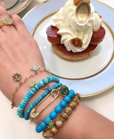 Sweet treats are best paired with Click the link in bio to shop our Arm Candy Bracelets, Gemstone Bracelets, Fashion Bracelets, Fashion Necklace, Charm Bracelets, Bangles, Evil Eye Charm, Champagne Diamond, Seed Bead Jewelry