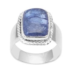 12.70 Ct Solid Tanzanite Gemstone 925 Sterling Silver Ring for Women Jewelry. Metal: 925 Sterling Silver Ring. Item Approx Gross weight: 7.11 Gram. Us Size: 6.5. Stone Name: Tanzanite. Stone Size: 15X12 MM.