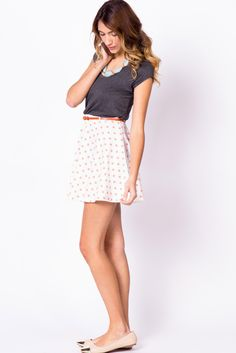Blush polka dot circle skirt - cute for summer Skirt Outfits, Casual Outfits, Cute Outfits, Girl Fashion, Womens Fashion, Printed Skirts, Dress Me Up, Passion For Fashion, Spring Outfits
