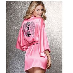 Robes for women Peach pink angel wings hot diamond robe/pajamas/bath robe kimono sexy silk robe Nightgown