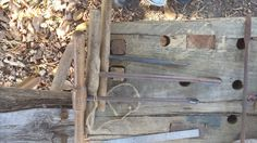 Auger Bits. Note the squared rod of the smaller auger with tapering cross section.  Might just keep that one.