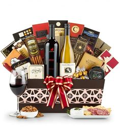 Gift Ideas Two 90-point rated wines are hand-selected with an abundance of sweets and treats to create a gift that embodies good taste.