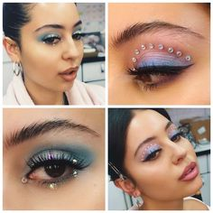 """We discussed the ground-breaking eye makeup looks in HBO's """"Euphoria"""" as well as what deeper meanings they may have for each character. Eye Makeup, Makeup Art, Makeup Tips, Prom Makeup, Makeup Ideas, Neon Eyeshadow, Eyeshadow Looks, Creative Makeup, Simple Makeup"""