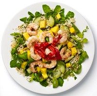Prawn and mango rice salad