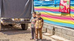 Yazidi children. Refugee camp in Kurdistan, Irak 2015
