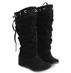 """Korean Style Women's Mid-Calf Boots With Lace-Up and Suede Design Color: BLACK, YELLOW, BEIGE, BROWN Size: 34, 35, 36, 37, 38, 39 Category: Shoes > Women's Shoes > Womens Boots   Gender: For Women  Boot Type: Fashion Boots  Boot Height: Mid-Calf  Toe Shape: Round Toe  Heel Type: Increased Internal  Heel Height Range: Low(0.75-1.5"""")  Closure Type: Slip-On  Shoe Width: Medium(B/M)  Pattern Type: Solid  Upper Material: Suede  #beatdealonwomensboots #bestboots #dealonboots #womensboots…"""