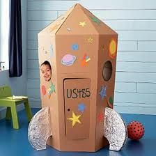 In the process of making a rocket ship house with my little... Thank you for ideas, Pinterest!