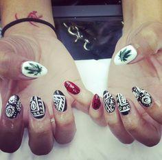 bandana nails!!!
