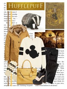 """""""Hufflepuff Fashion"""" by evil-laugh ❤ liked on Polyvore featuring Napapijri, Wrap, Uniqlo, Forever 21, GUESS and Jeffrey Campbell"""