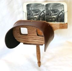 A stereoscope is a device for viewing a stereoscopic pair of separate images, depicting left-eye and right-eye views of the same scene as a single image. Here's a Holmes stereoscope, the most popular form of century stereoscope. Data Glove, Golf Swing Analysis, Wood Projects That Sell, New Inventions, Virtual Reality, 3 D, Technology, Things To Sell, Photography
