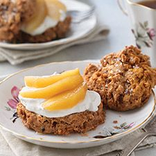 Apple-Cinnamon Scones with Cider-Poached Apples: King Arthur Flour