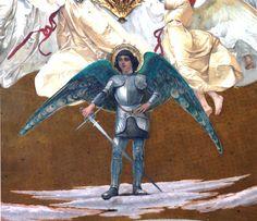 #SanMicheleArcangelo (1890-1895). #Affresco di #CesareMaccari situato nella #Cupola del #SantuariodiLoreto. ❤ #SaintMichaelArchangel. #Dome of the #SanctuaryofLoreto, #fresco by #CesareMaccari. #Archangel #messengerofGod #SaintsArchangels #Archangel #chatholicchurch #chiesacattolicaromana #Loreto #SantiArcangeli #messaggeridiDio #ArcangeloMichele #Arcangelo #Angeli #Marchespiritualroute #Vialauretana #camminilauretani #Loretoturismo