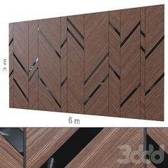models: Other decorative objects - Decorative wall Wooden Panelling, Wooden Wall Panels, 3d Wall Panels, Wooden Walls, Wardrobe Interior Design, Shoe Store Design, Laminate Wall, Wall Panel Design, Cladding Panels