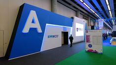 Diseño, producción y decoración de los auditorios del Mobile World Congress 2017. Decoración de zonas comunes y stands.