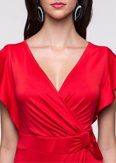 Vestido transpassado Morango encomendar agora na loja on-line bonprix.de  R$ 89,90 a partir de Vestidos transpassados são perfeitos quando se quer parecer ...