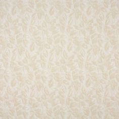 A082 Beige And Off White Leaves Upholstery Fabric