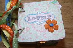 Lovely Premade Mini Scrapbook Album by HampshireRose on Etsy, $25.00