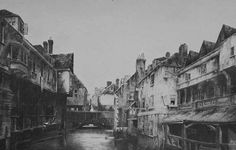 the slums of London: their eradication also erased the last traces of the medieval city.