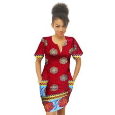 21c7ee431ee Summer Africa Above Knee Bazin Riche Wax Print Plus Size Dresses