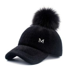 2e472feeef8  YARBUU  New brand baseball caps 2017 winter cap for women Faux Fur pompom  ball cap Adjustable Casual Snapback hat cap