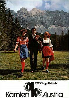 Carinthia Vintage Travel Poster 1970s