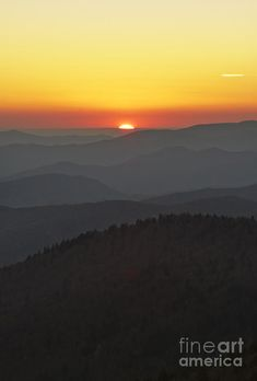 ✯ Great Smokie Mountains National Park Sunset