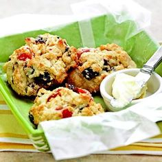 Double-Strawberry Scones