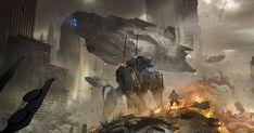 Spaceship concept artwork by Eduardo Peña. Keywords: sci-fi science fiction digital concept spaceship art by Eduardo Peña cghub...