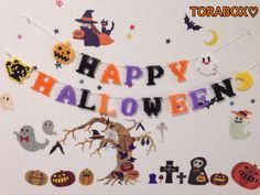Happy Halloween garland perler beads by TORABOX♡*