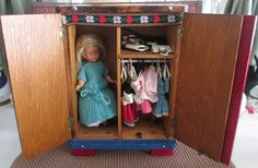 Antique German knotty pine  Armoire Sweetheart Doll by LizsTallent