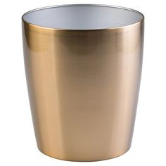 AS PLANTER - InterDesign Steel Round Wastebasket : Target