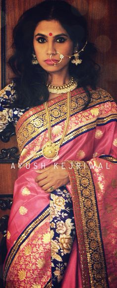 Benarsi saree by Ayush Kejriwal For purchase enquires email me at… Benarsi Saree, Lehenga, Sabyasachi, Indian Bridal Wear, Indian Wear, Traditional Sarees, Traditional Dresses, Indian Dresses, Indian Outfits