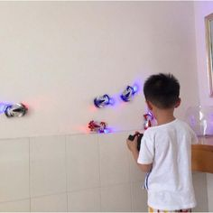 Remote Control Wall Climbing RC Car with LED Lights 360 Degree Rotating Stunt Toys Antigravity Machine