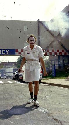 Heath Ledger as the Joker in The Dark Knight Joker Heath, Joker Dc, Joker And Harley Quinn, Gotham Batman, Batman Art, Batman Robin, Joker Nurse, Joker Dark Knight, Joker Poster